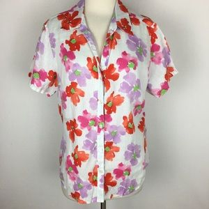 Tommy Bahama Floral Linen Top Large